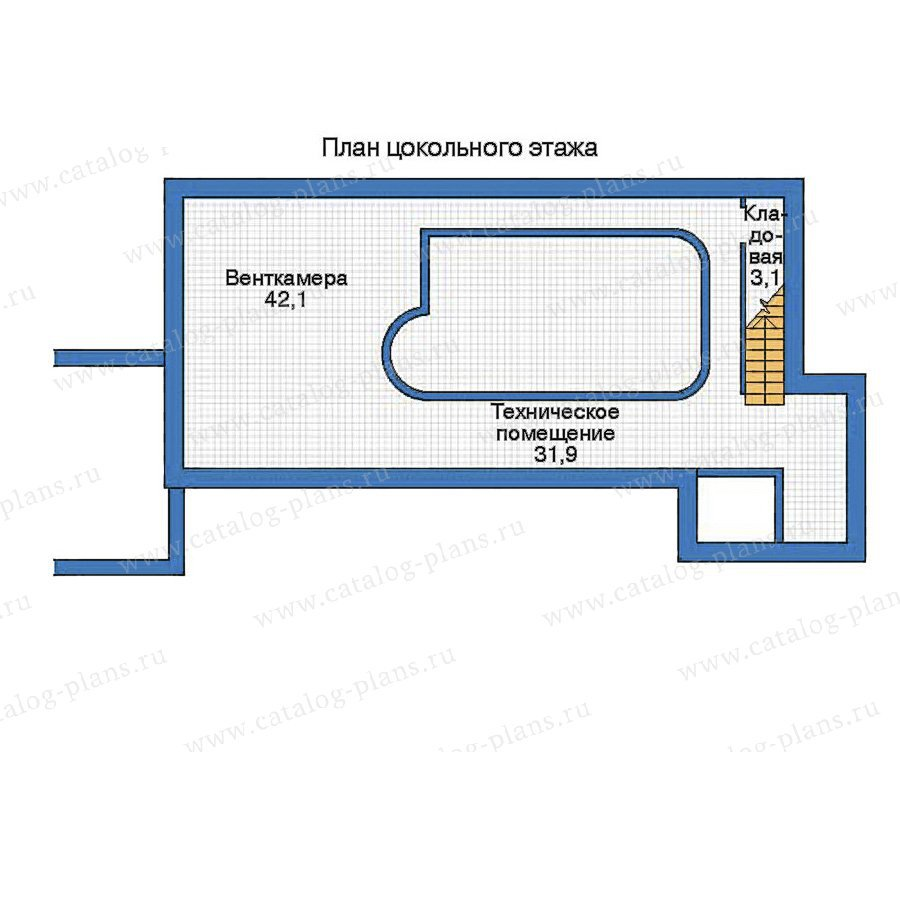 План 1-этажа проекта 35-96
