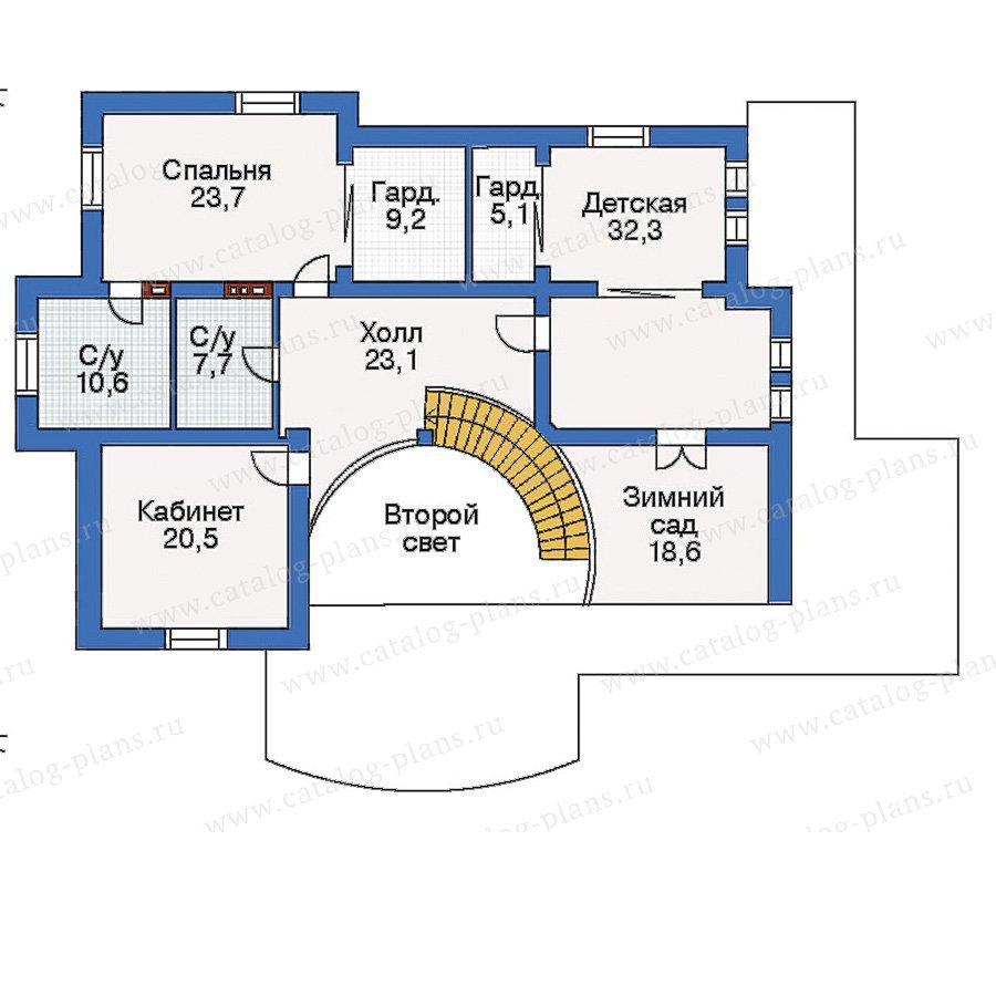 План 3-этажа проекта 35-28
