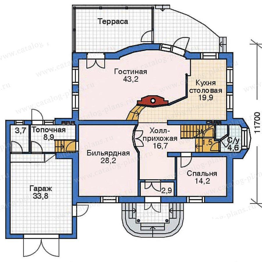 План 2-этажа проекта 35-30