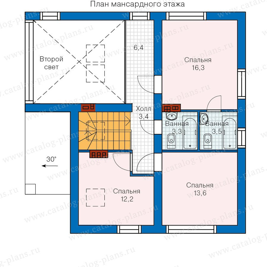 План 2-этажа проекта 60-23