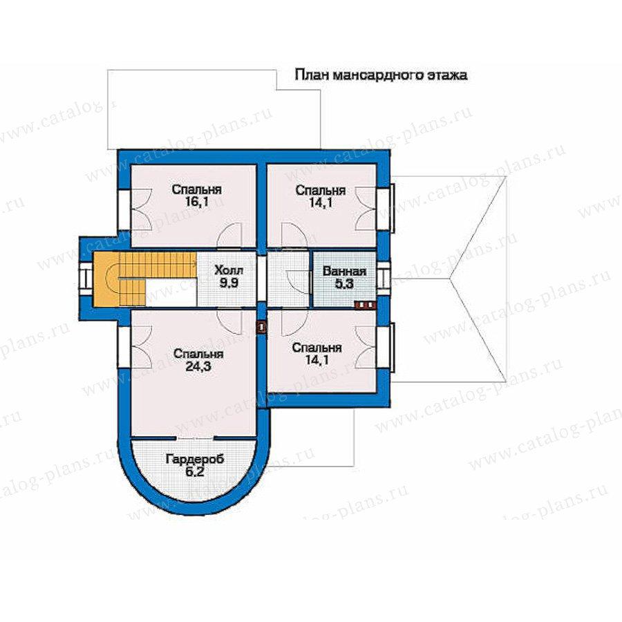 План 2-этажа проекта 35-70