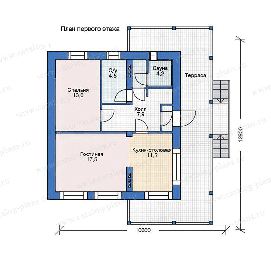 План 1-этажа проекта 35-40