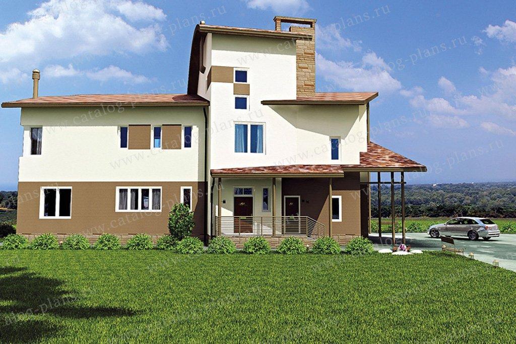 Проект жилой дом #35-53 материал - кирпич, стиль современный