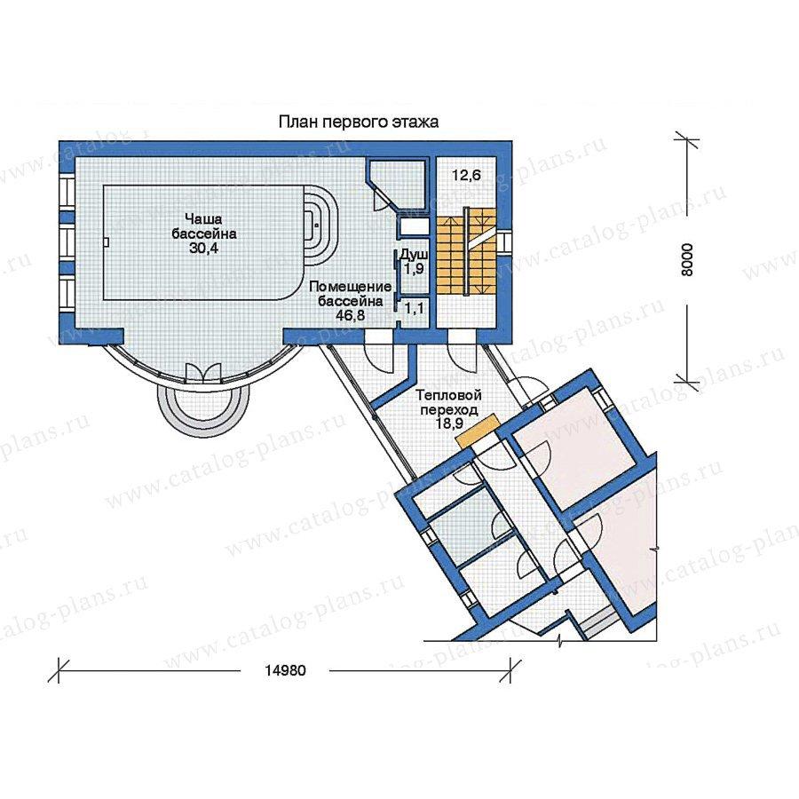 План 2-этажа проекта 35-98