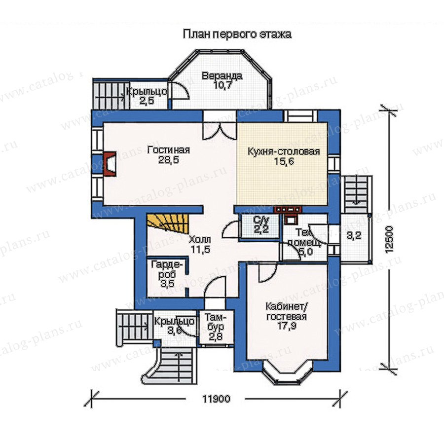 План 1-этажа проекта 35-31