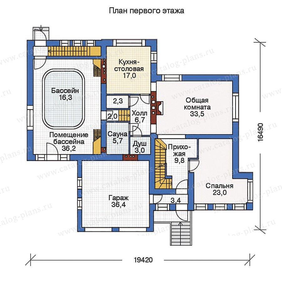 План 2-этажа проекта 35-83