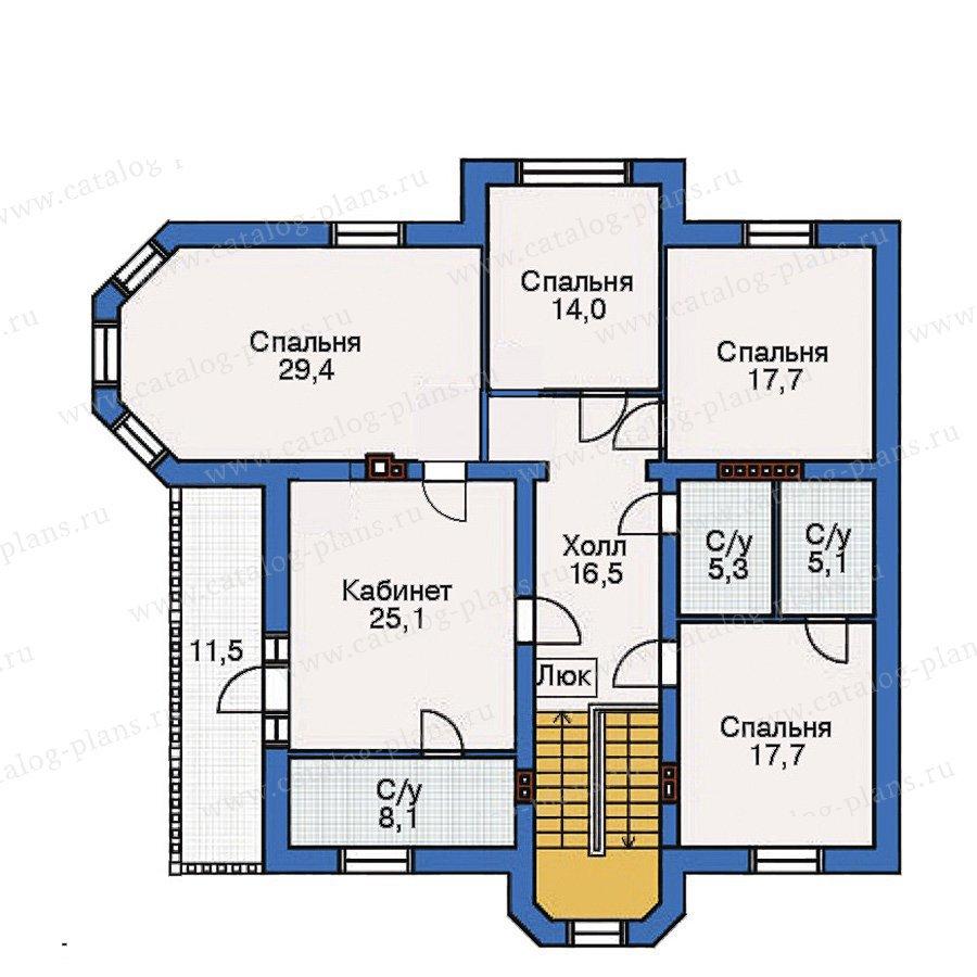 План 3-этажа проекта 35-71