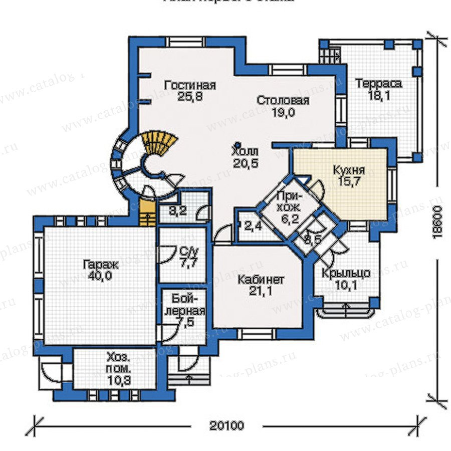План 1-этажа проекта 35-12