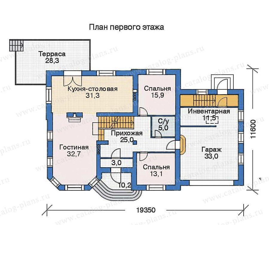 План 2-этажа проекта 35-91