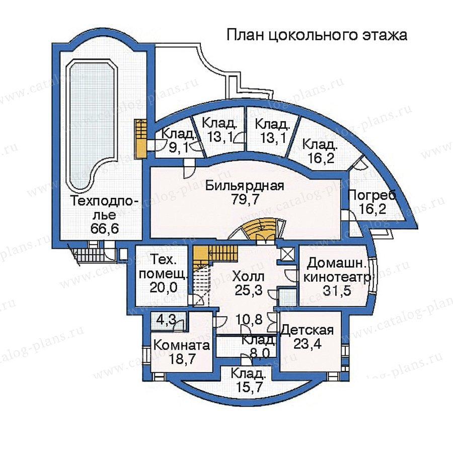 План 1-этажа проекта 35-33