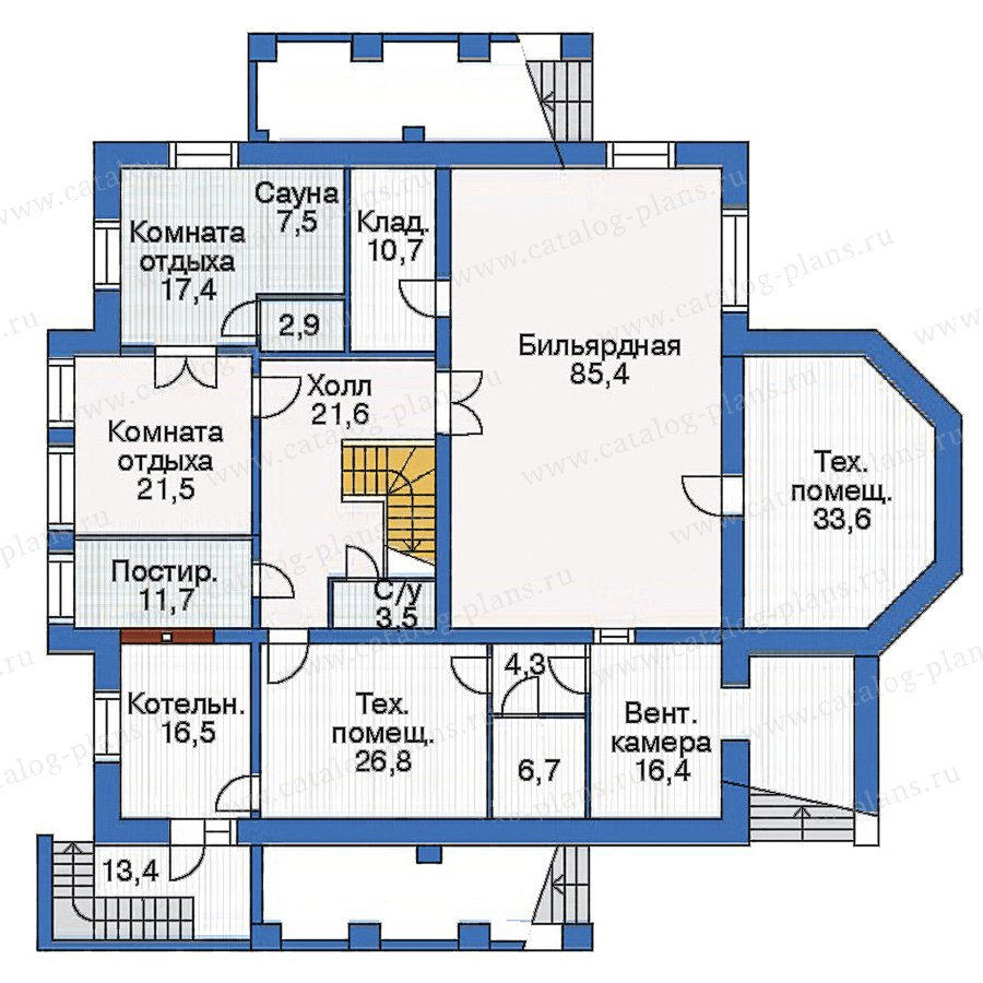 План 1-этажа проекта 35-26