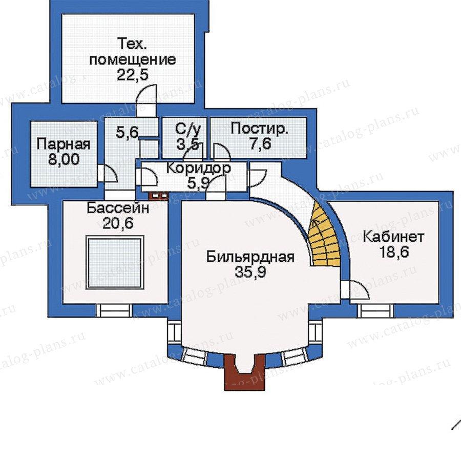 План 1-этажа проекта 35-28