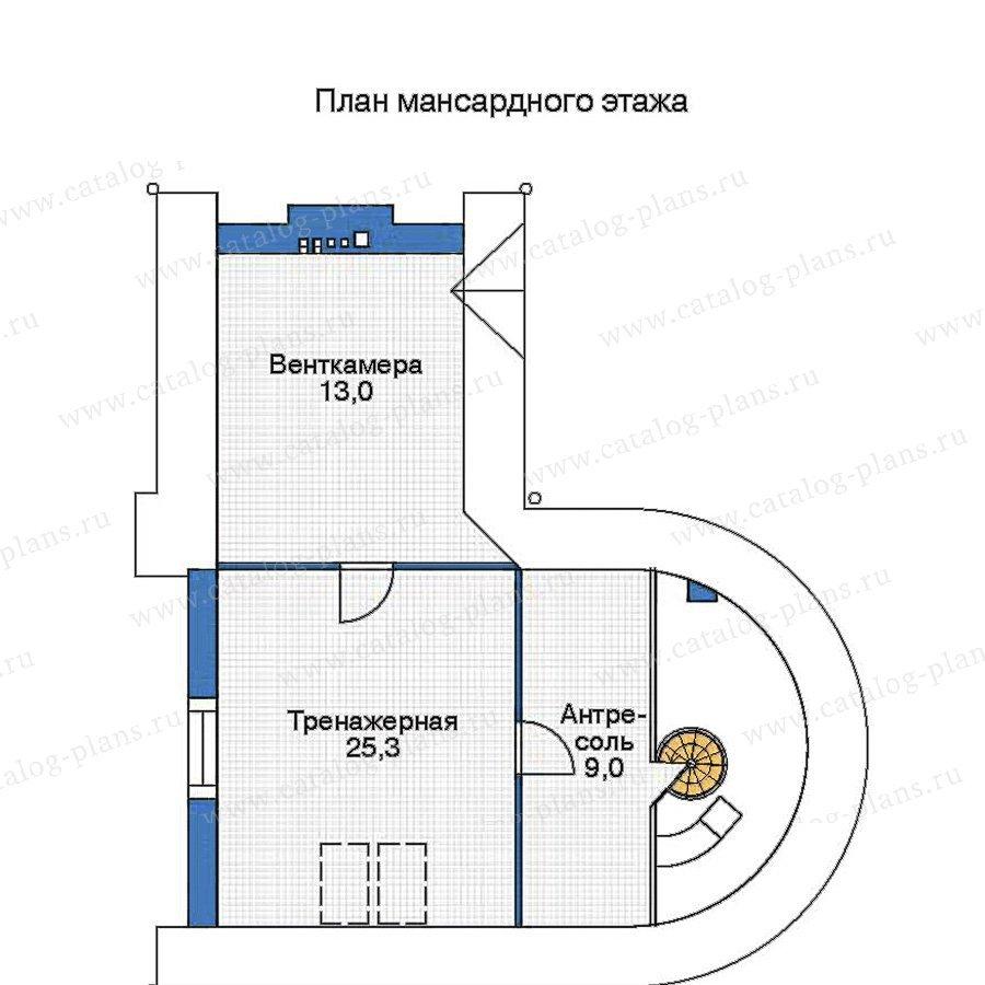 План 3-этажа проекта 35-94