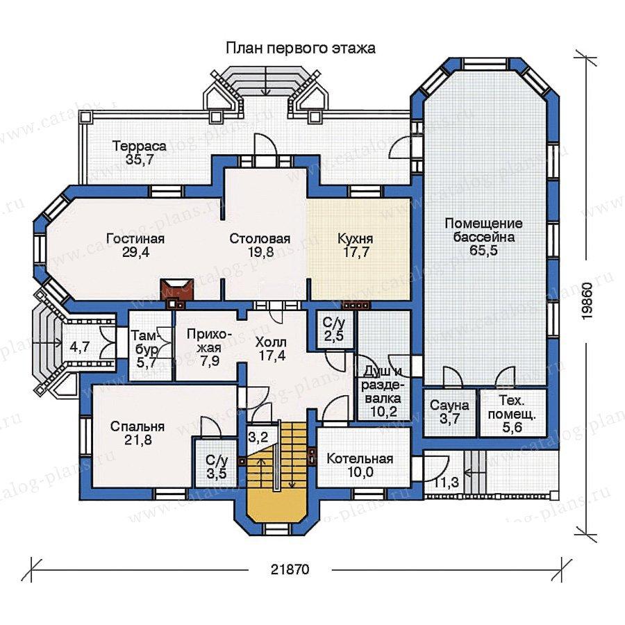 План 2-этажа проекта 35-71