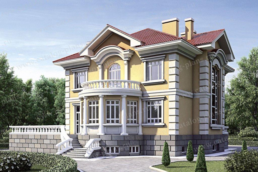 Проект жилой дом #35-27 материал - кирпич, стиль рококо