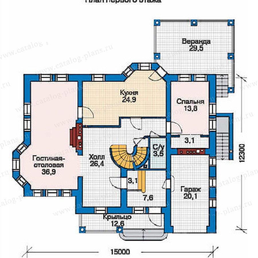 План 2-этажа проекта 35-89