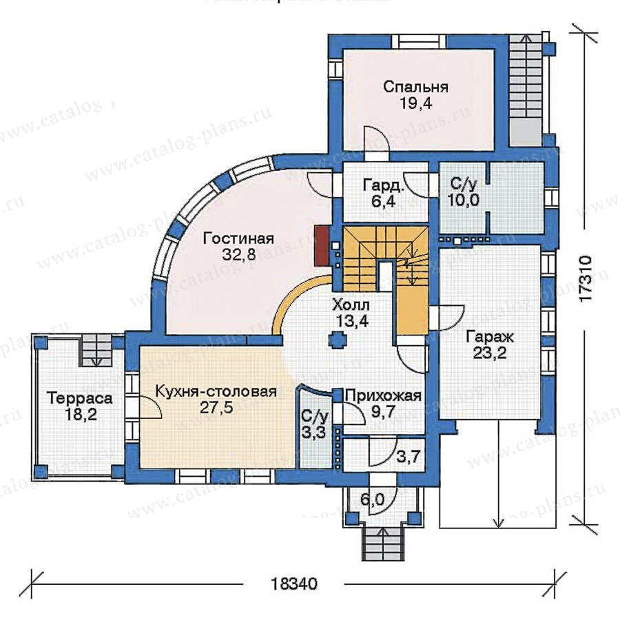 План 2-этажа проекта 35-88