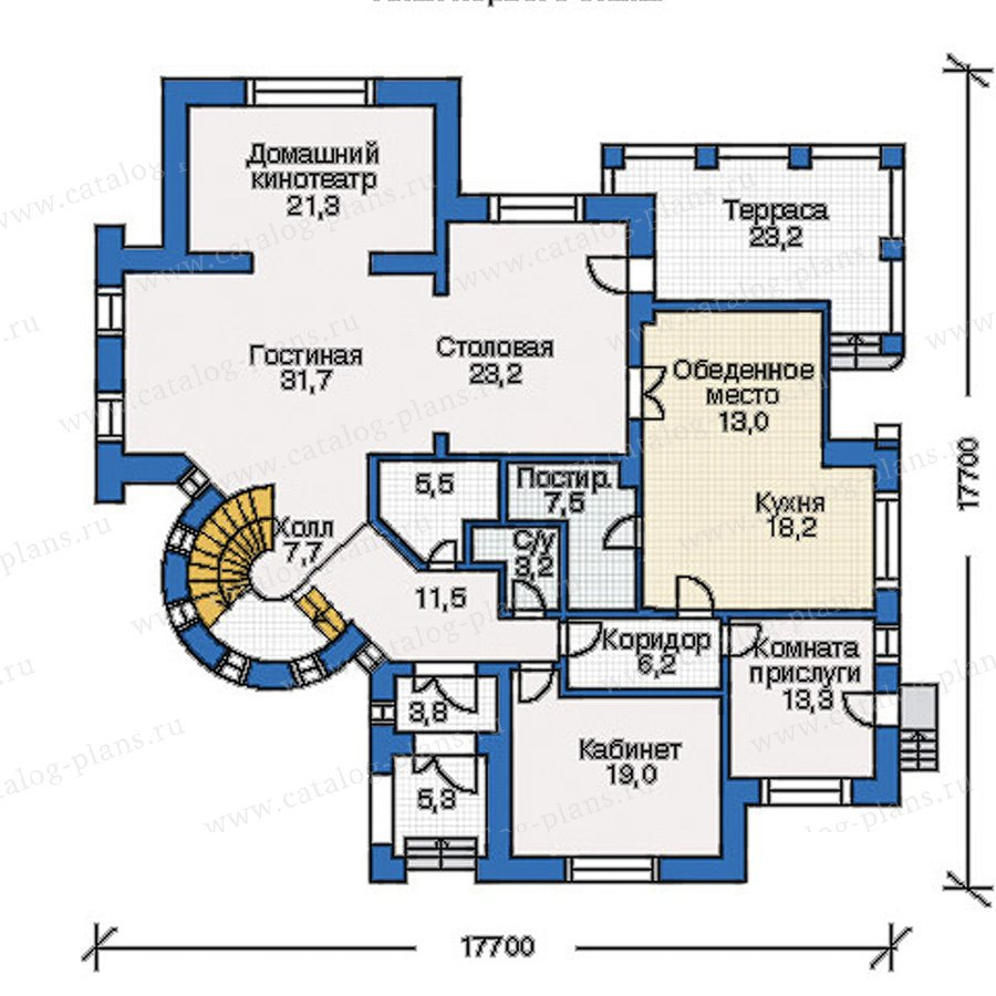 План 1-этажа проекта 35-07