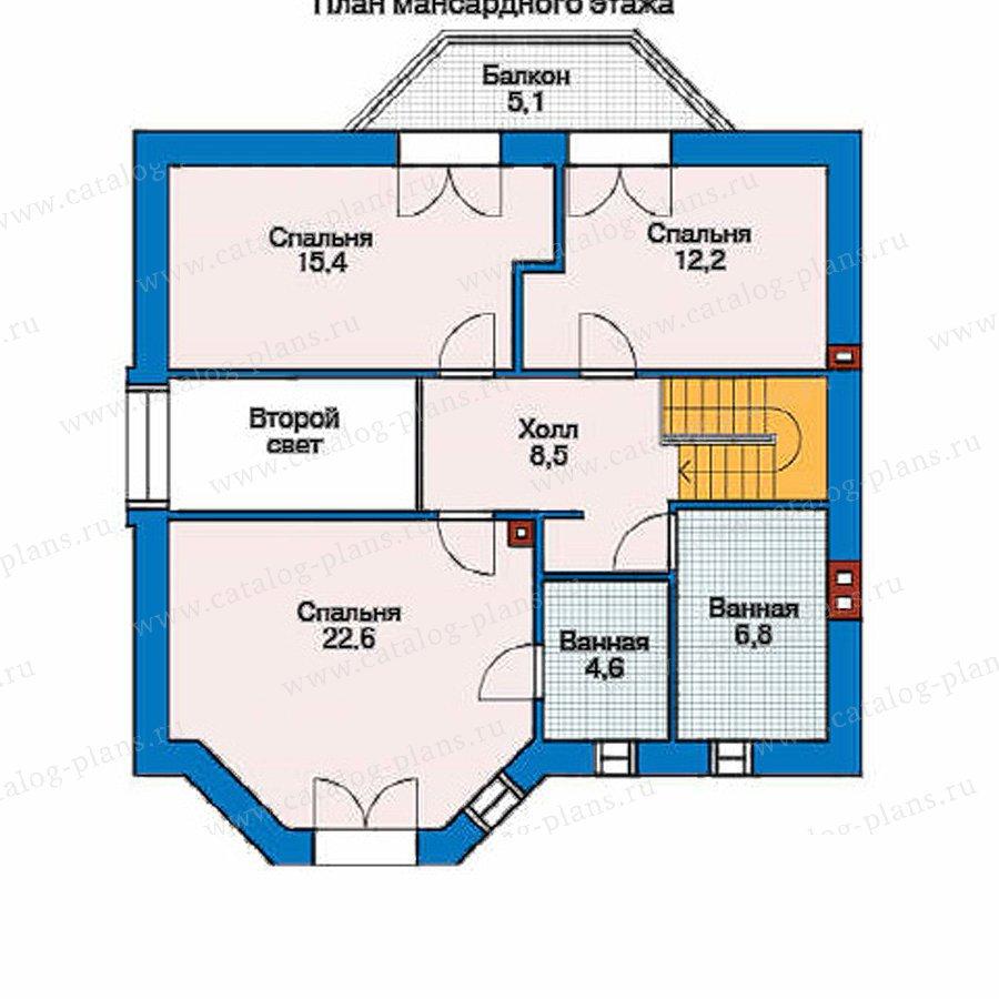 План 2-этажа проекта 35-73
