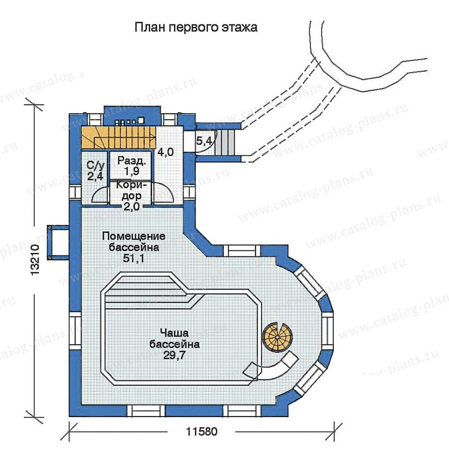 План 2-этажа проекта 35-94