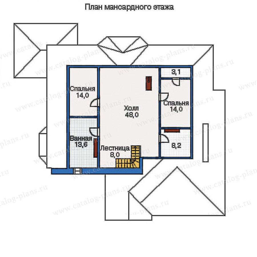 План 3-этажа проекта 35-09