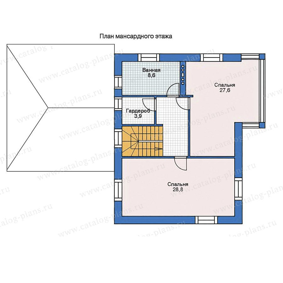 План 2-этажа проекта 35-41