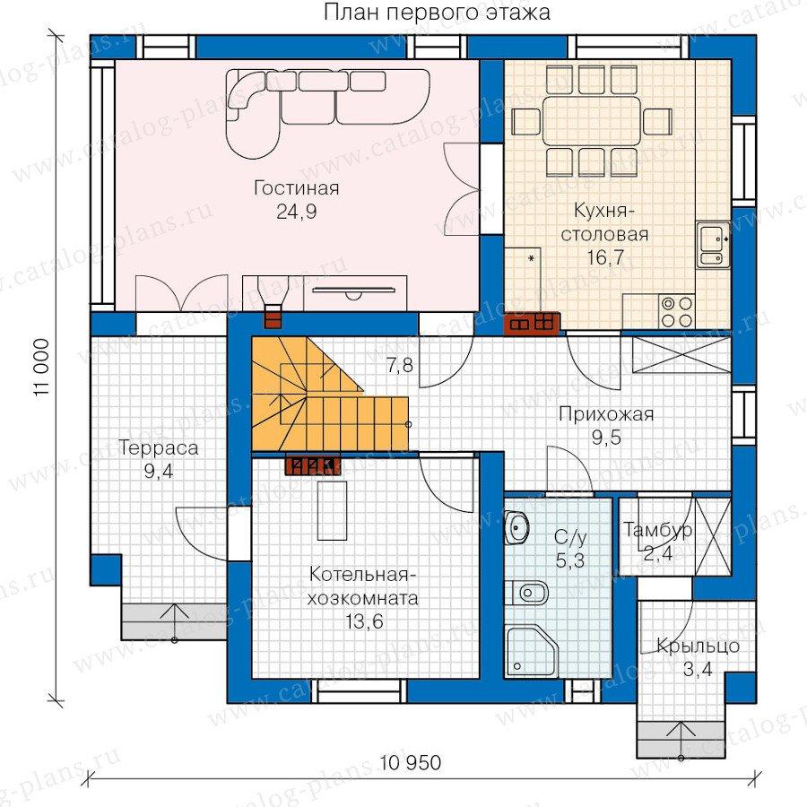 План 1-этажа проекта 60-23