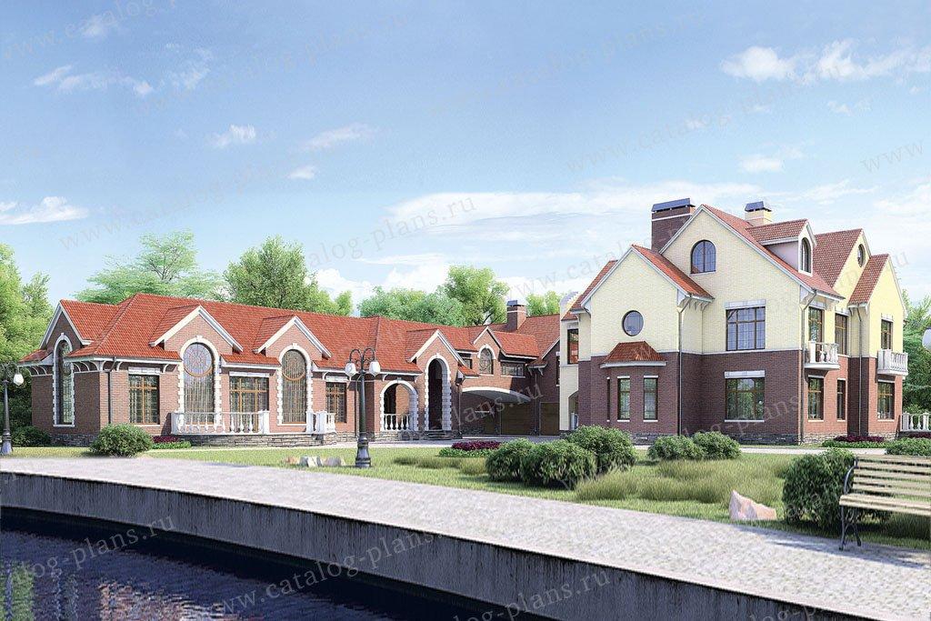 Проект жилой дом #35-79 материал - кирпич, стиль классический