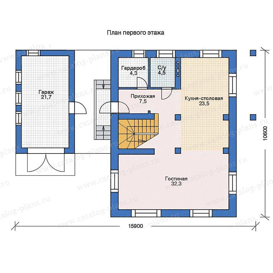 План 1-этажа проекта 35-41