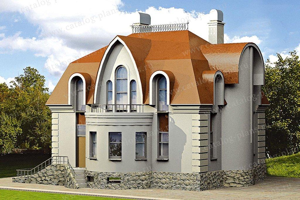 Проект жилой дом #35-47 материал - кирпич, стиль классический