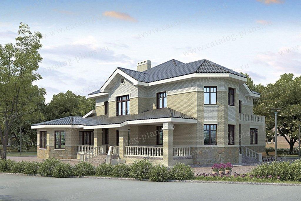 Проект жилой дом #35-71 материал - кирпич, стиль европейский
