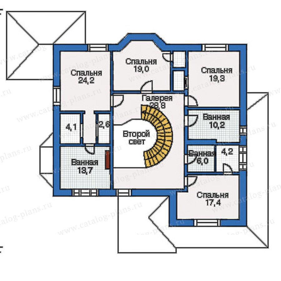 План 2-этажа проекта 35-09