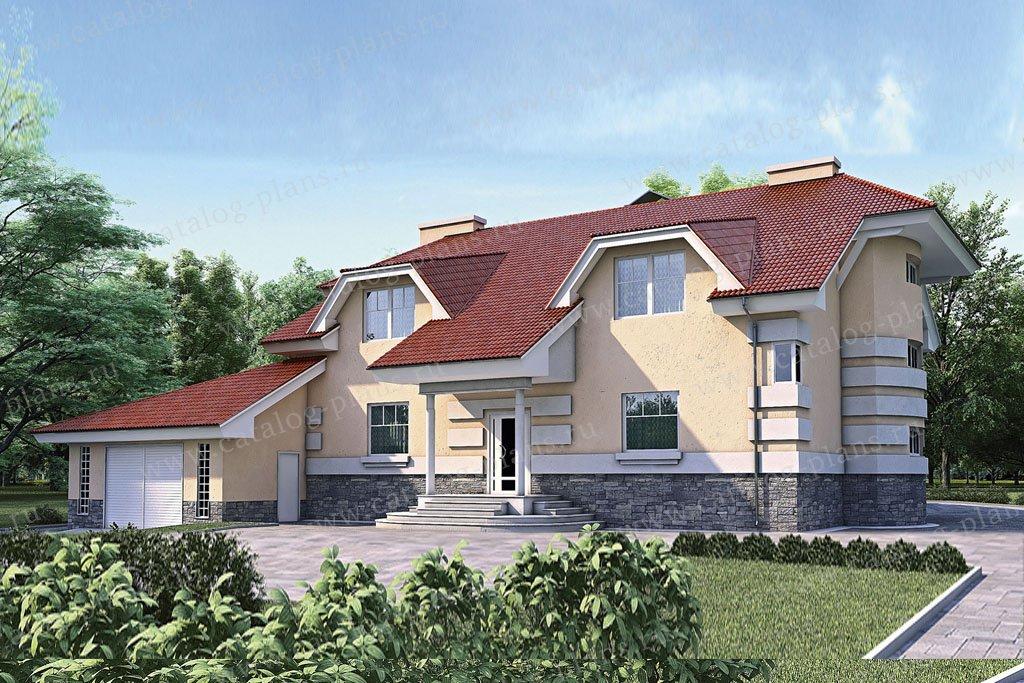 Проект жилой дом #35-30 материал - кирпич, стиль классический
