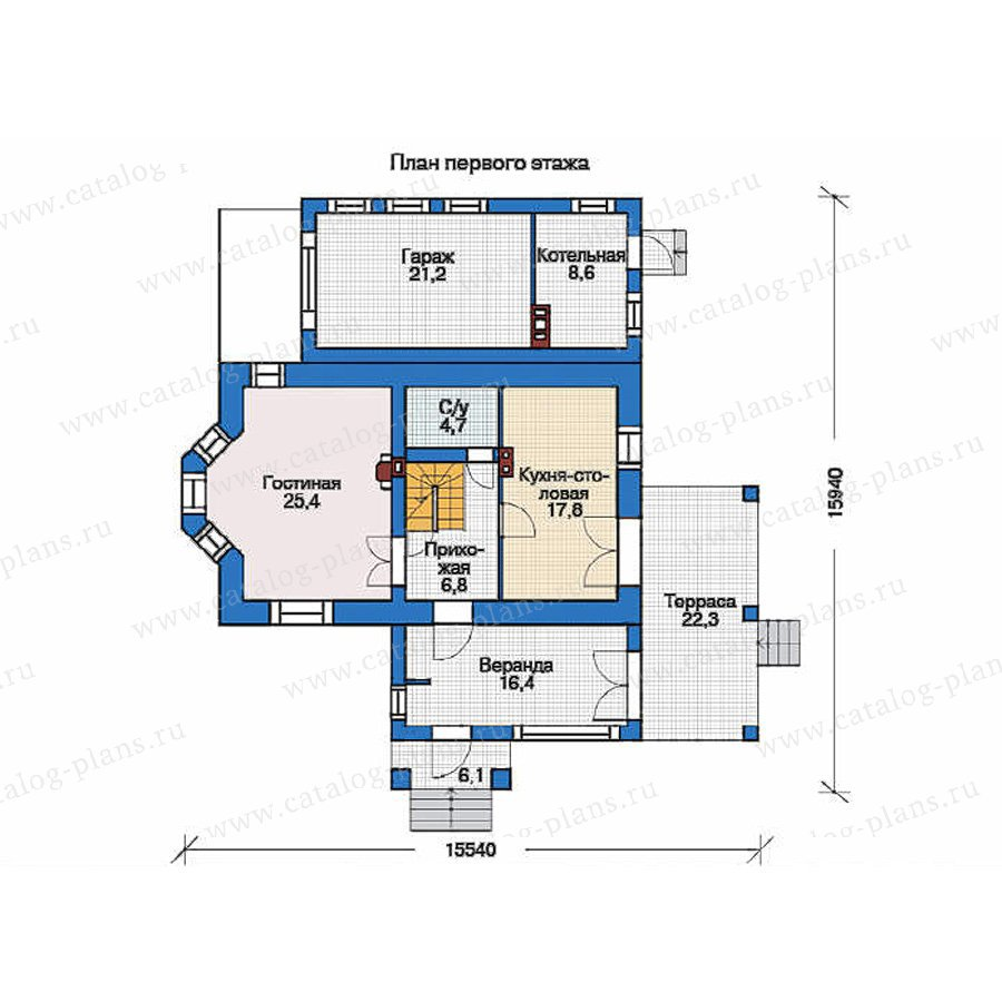 План 1-этажа проекта 35-76