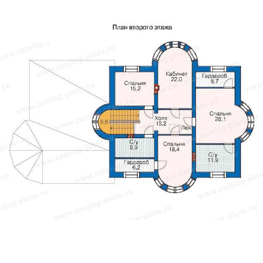 План 2-этажа проекта 35-32