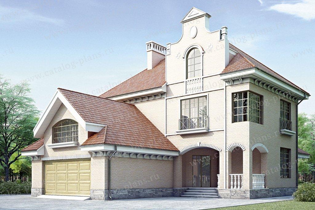 Проект жилой дом #35-13 материал - кирпич, стиль итальянский