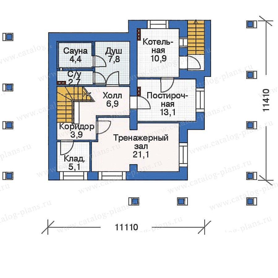 План 1-этажа проекта 35-38