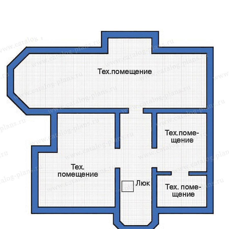 План 1-этажа проекта 35-71