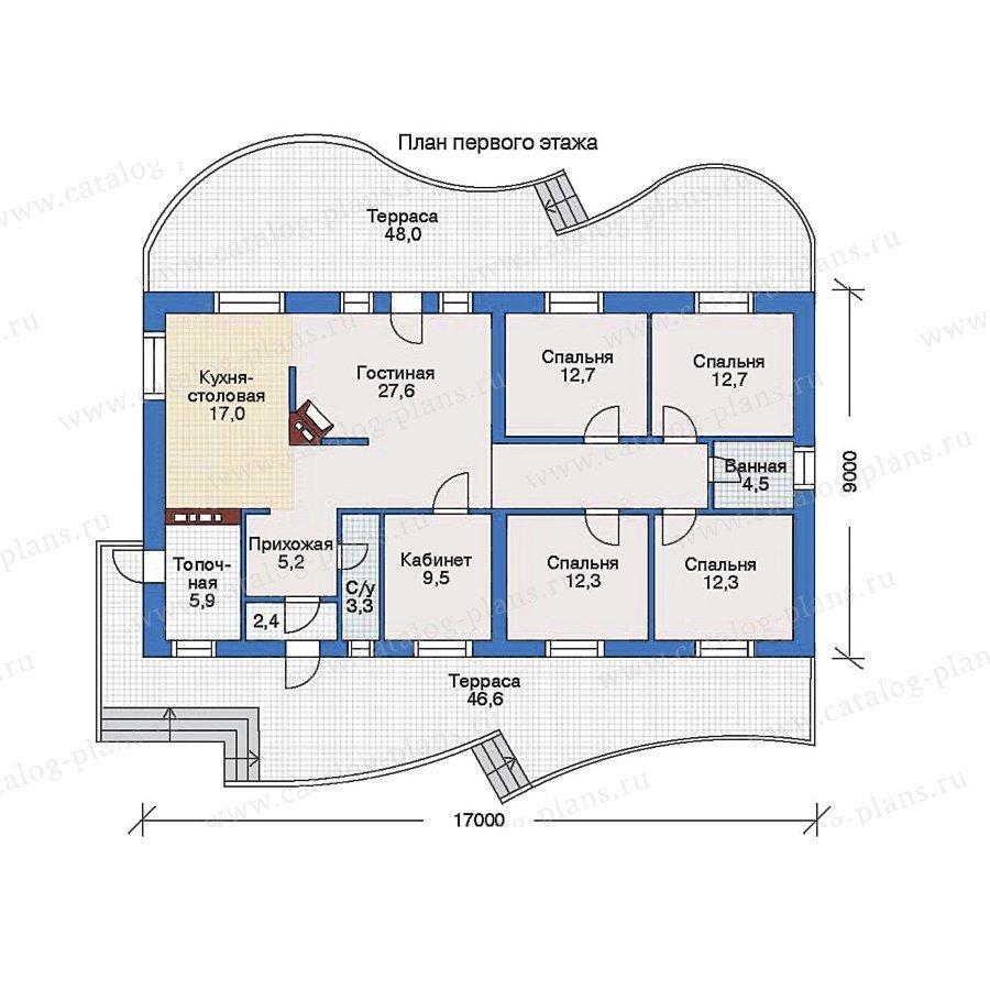 План 1-этажа проекта 35-14