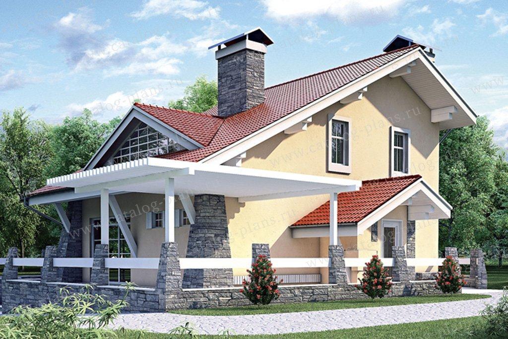 Проект жилой дом #35-29 материал - кирпич, стиль современный