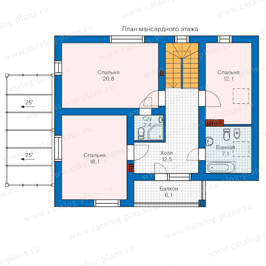 План 2-этажа проекта 60-22