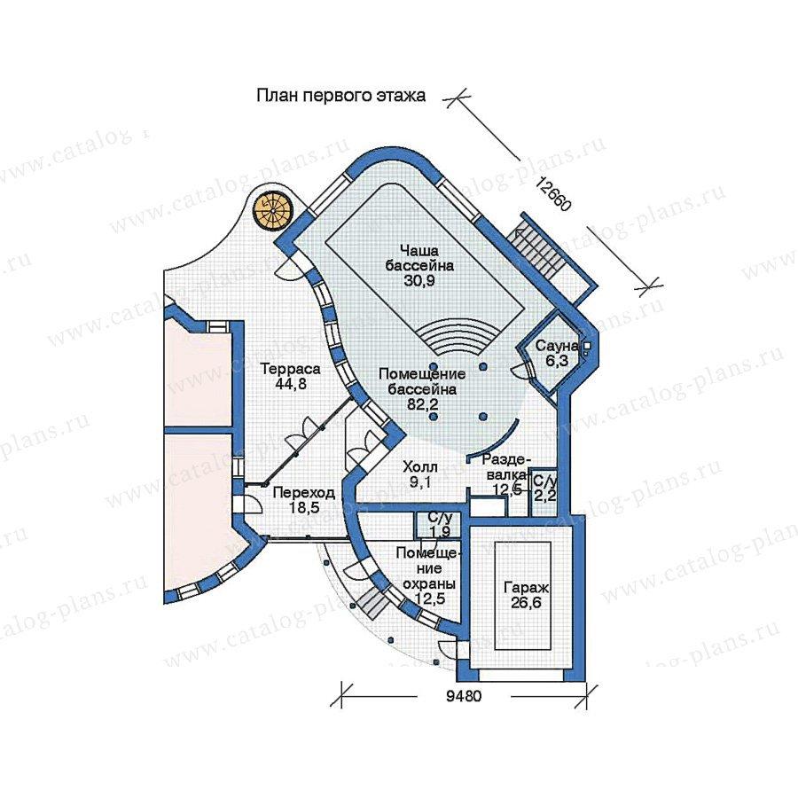 План 2-этажа проекта 35-93
