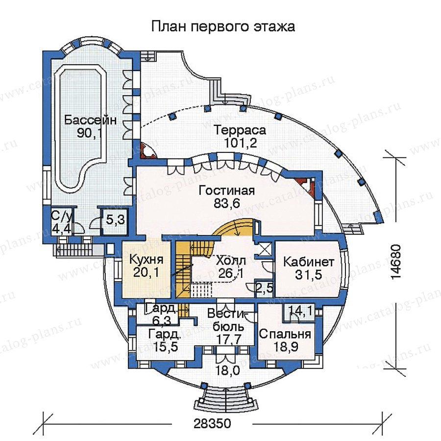 План 2-этажа проекта 35-33