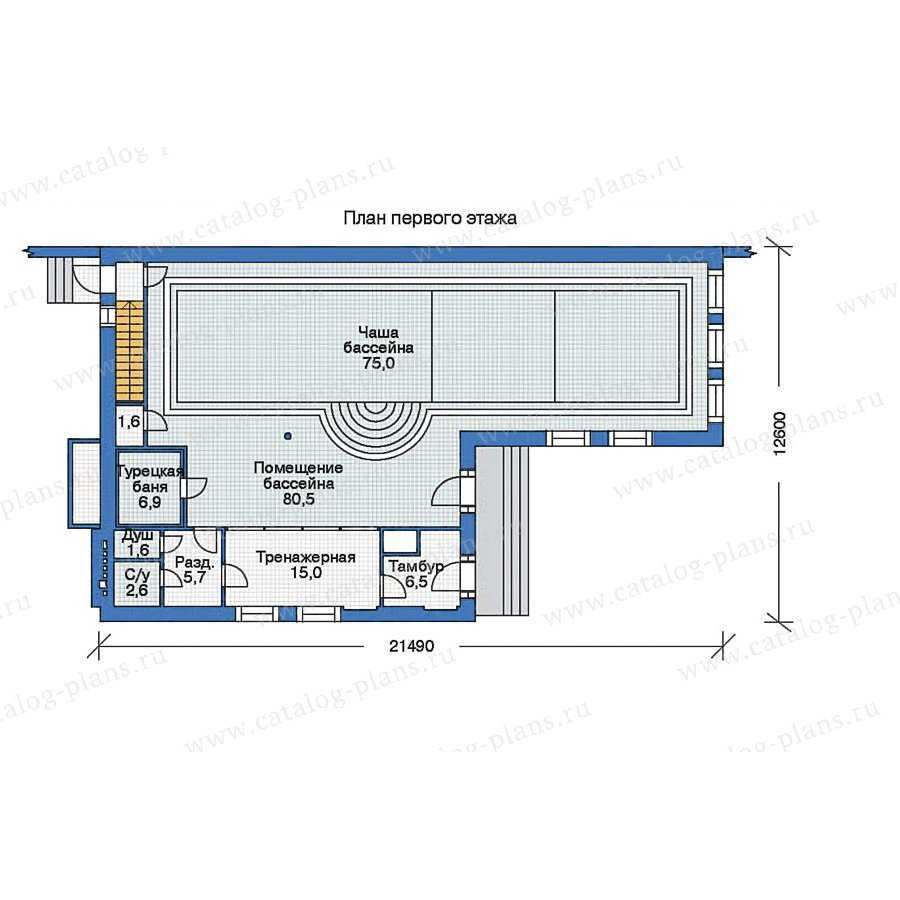 План 2-этажа проекта 35-62
