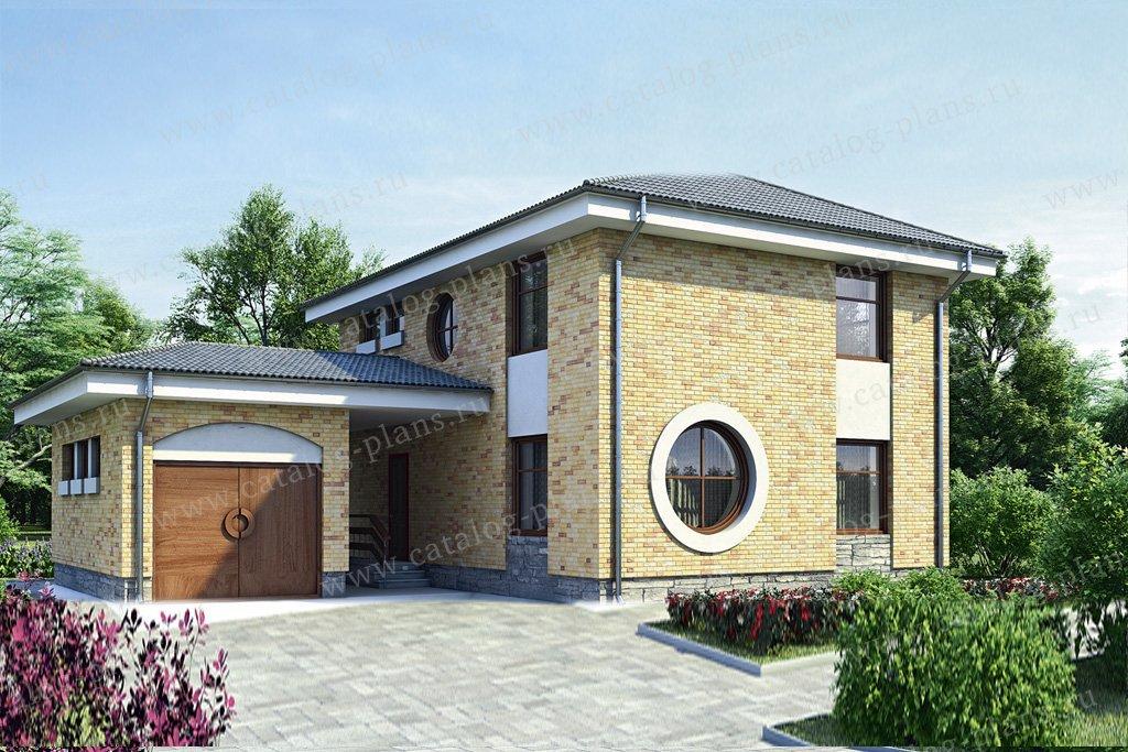 Проект жилой дом #35-41 материал - кирпич, стиль современный