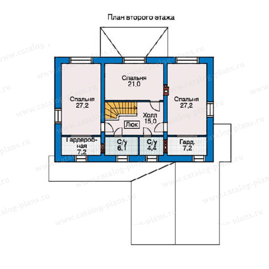 План 2-этажа проекта 35-22