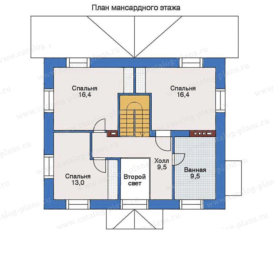 План 2-этажа проекта 34-60