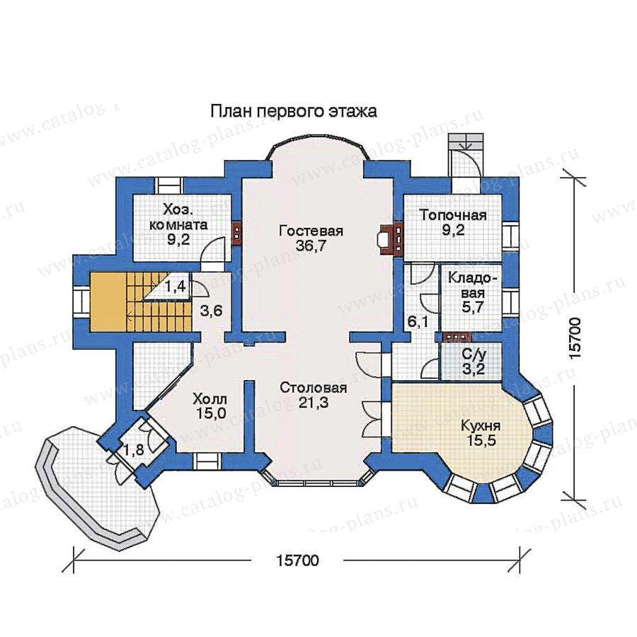 План 1-этажа проекта 34-47