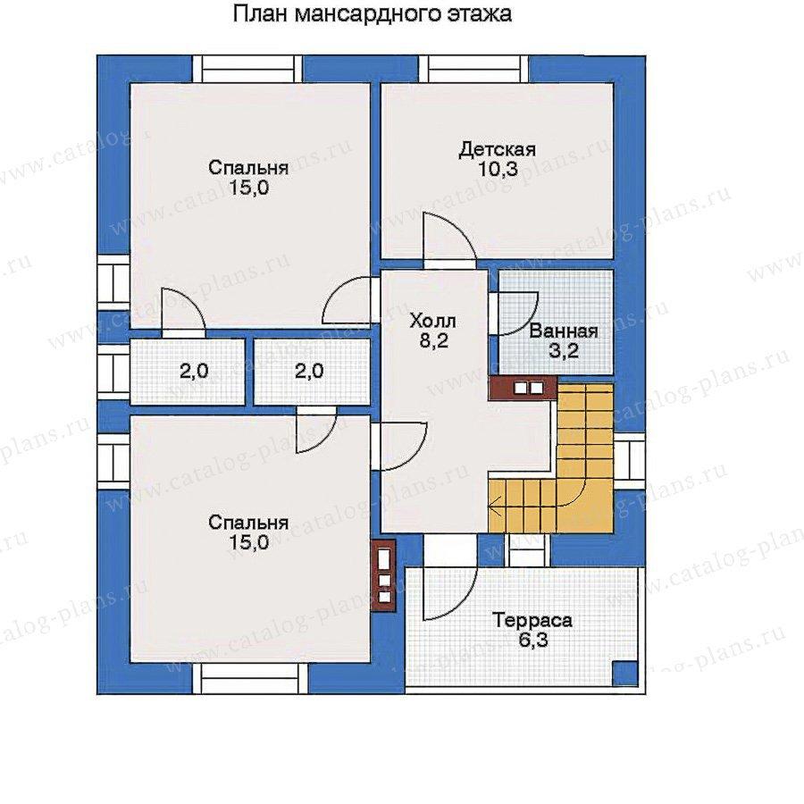 План 2-этажа проекта 34-95