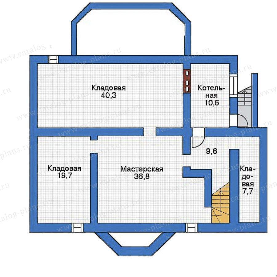 План 1-этажа проекта 34-86